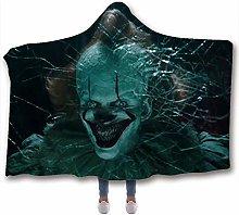 Fancyart Hooded Blanket, 3D Pattern Horror Print
