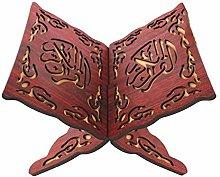 Fancylande Holder Book Stand Wooden Carved Eid