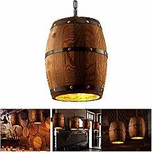 FangFang Ceiling Barrel Lamp Wood Wine Barrel