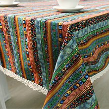Fanjow® Cotton Linen Tablecloth Mediterranean