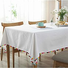 Fanjow® Cotton Linen Tablecloth with Rainbow