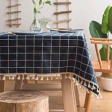Fanjow® Fashion Classic Cotton Linen Check Plaid