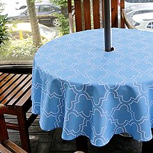 Fanjow® Geometric Floral Tablecloth with Umbrella
