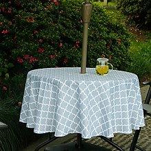 Fanjow® Patio Umbrella Tablecloth with Hole &