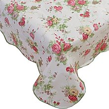 Fanjow® PVC Tablecloth Flannel Backed Plastic
