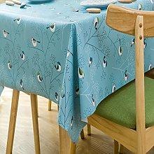 Fanjow Waterproof PVC Tablecloth Birds Print
