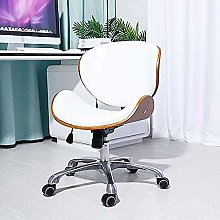 FANLIU Leather Office Chair, Nordic Swivel Chair,