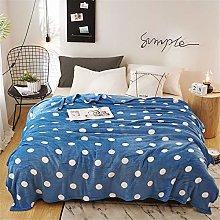 Fansu Classic Polka Dot Flannel Fleece Blankets