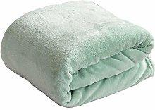 Fansu Flannel Blankets Plain Color Bedding, Warm