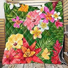 Fansu Floral Printed Bedspread Quilt Single Double