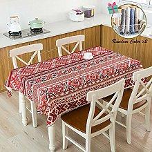 Fansu Rectangular Linen Waterproof Tablecloth,
