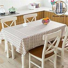 Fansu Retro Plaid Tablecloth Linen Waterproof
