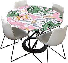 FANSU Round Tablecloth Waterproof Wipe Clean, 3D