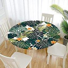 Fansu Round Tablecloth Waterproof Wipe Clean,