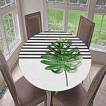 Fansu Round Tablecloth Wipe Clean Waterproof,