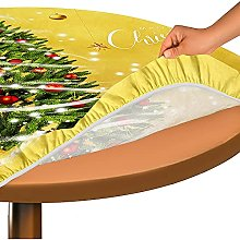 FANSU Round Tablecloth Wrinkle Free Stain