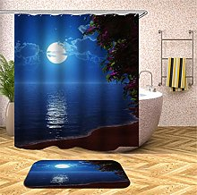 Fansu Shower Curtain with 12 Hooks Anti Mould
