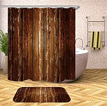 Fansu Shower Curtain with 12 Hooks Anti MouldProof