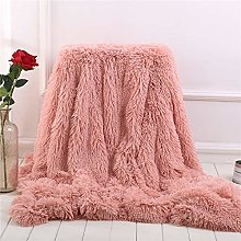 Fansu Soft Fluffy Bed Throws Solid Color Winter