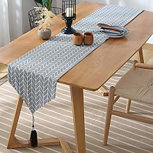 Fansu Table Runner Geometric, Solid Color Cotton