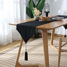 Fansu Table Runner Solid Color, Cotton Linen
