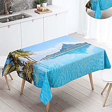 Fansu Waterproof Table Cloths, Rectangle Washable
