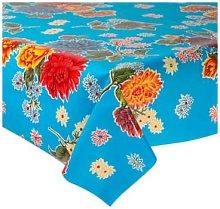 Fantastik - Celeste Blue Chrysanthemum Oilcloth