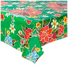 Fantastik - Hibiscus Green Oilcloth