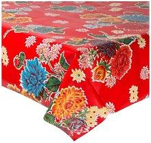 Fantastik - Red Chrysanthemum Oilcloth