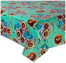 Fantastik - Sweet Flower Turquoise Oilcloth