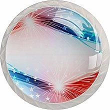 Fantasy Stars 4 Pack Glass Drawer Knobs- Round
