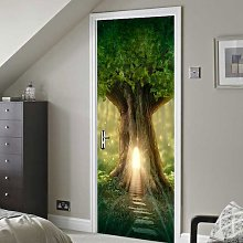 Fantasy Tree Door Sticker East Urban Home