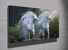 Fantasy Unicorn magical Unicorn framed canvas