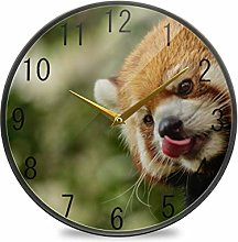 FANTAZIO Desk Clock Clock Raccoon Lips With Tongue