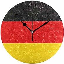FANTAZIO Large Desk Clock Patriotism German Flag