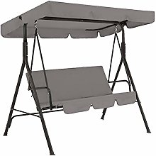 Hanshin 2pcs//set Outdoor Swing Canopy Replacement,Patio Swing Cushion Cover Waterproof 210D Oxford Cloth Swing Seat Cover for 3-Seater Chairs,Not Include Chair