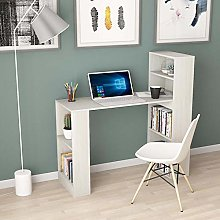 Farelves Computer Desk with Bookcase Shelves on