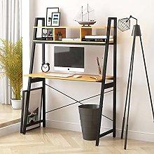 Farelves Computer Desk with Shelves on Top Home