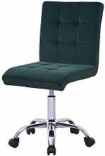Farelves Green Velvet Desk Chair for Home Office
