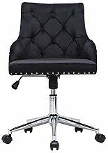 Farelves Velvet Desk Chair with Armrest Executive