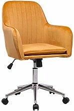 Farelves Velvet Office Chair with Armrest