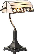 Fargo desk lamp, glass and metal