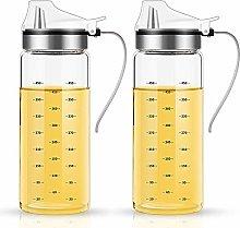 FARI Olive Oil Dispenser Bottles - 2 Pack of