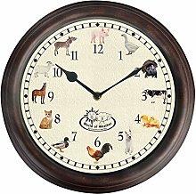Farm Animal Round Kitchen Childrens Wall Clock