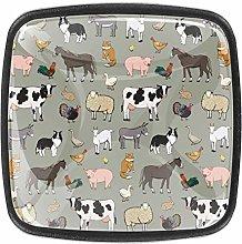 Farm Animals 4 Pack Cabinet Drawer Knob Furniture