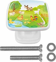 Farm Background with Animals Farm Background with