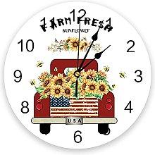 Farm Harvest Silent Non Ticking Wall Clock,