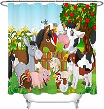 Farm plants cute animals High-definition printed