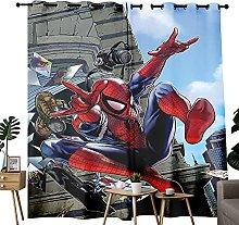 Farmhouse Curtains Music Spiderman Art Cartoon