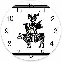 Farmhouse PVC Wall Clock, Silent Non-Ticking
